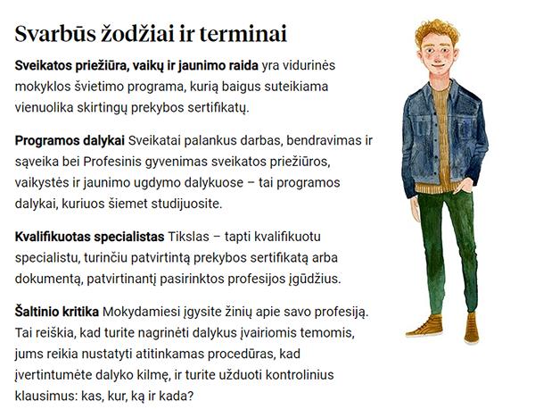 Et eksempel på hvordan ordforklaringen ser ut i oversatt versjon i de digitale ressursene til iPRAKSIS.